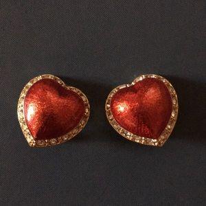 Victoria's Secret red enamel earrings